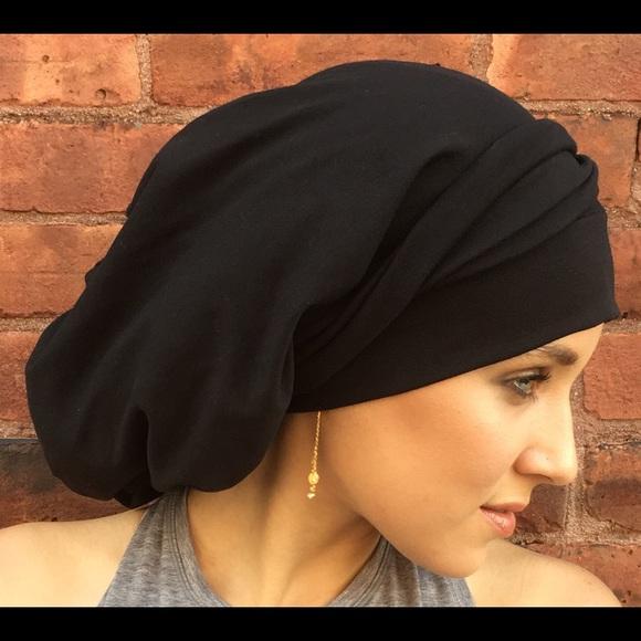 7a4d1b1d3b84c Black Cotton Hijab Tichel Hair Wrap USA. Boutique. Uptown Girl Headwear
